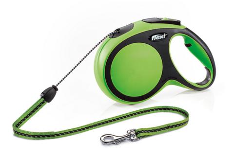 Flexi поводок-рулетка New Comfort M (до 20 кг) трос 8 м (зеленая)