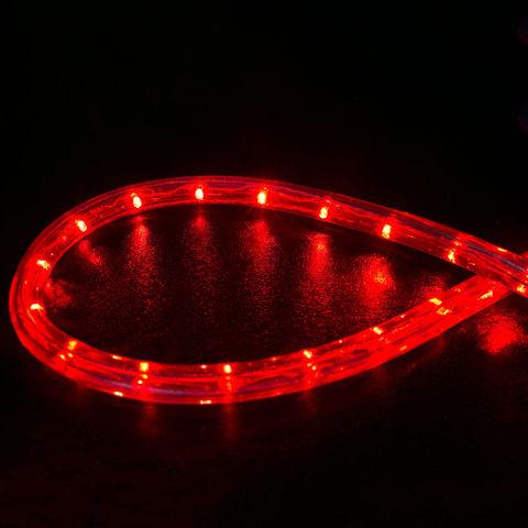 Шланг 10 метров LED красный дюралайт готовый набор