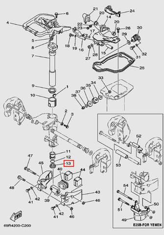 Уплотнитель для лодочного мотора Т30 Sea-PRO (15-13)