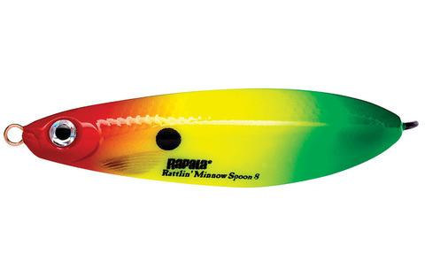 Незацепляйка RAPALA Rattlin' Minnow Spoon 8 см, цвет RYGR