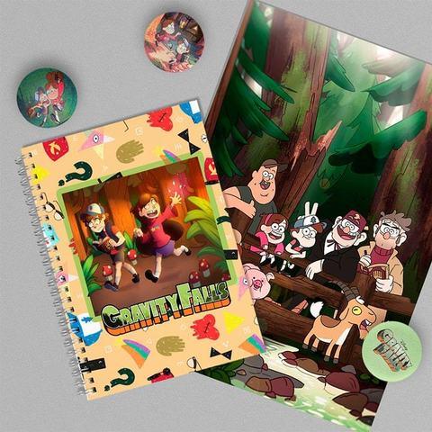 Герои Хижины Чудес: набор из тетради, плаката А4 и 3 значков