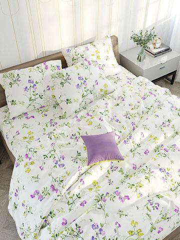 Пододеяльник  -Душистый горошек- 2-спальный на молнии 175х215 см