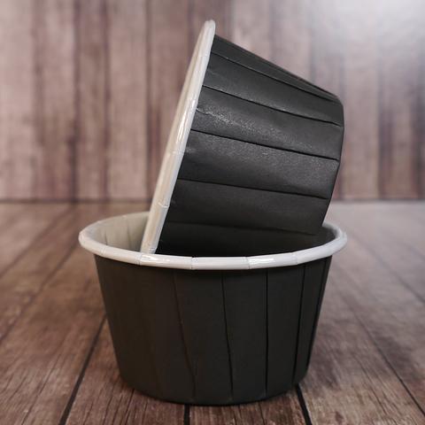 Капсулы для капкейков усиленные 50*40мм, черные, 20шт