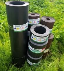 Пластиковый бордюр для грядок высота 45 см, толщина 2 мм, в рулоне 10 метров Черный