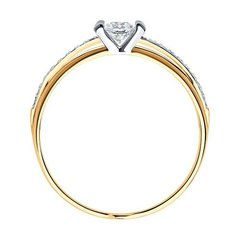 018250 -  Золотое кольцо с фианитами