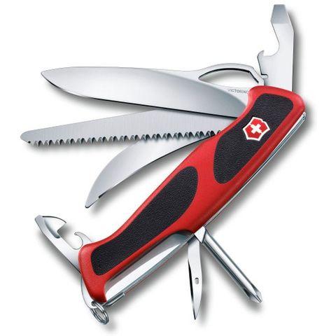 Нож перочинный Victorinox RangerGrip 58 Hunter (0.9683.MC) 130мм 13функций красный/черный