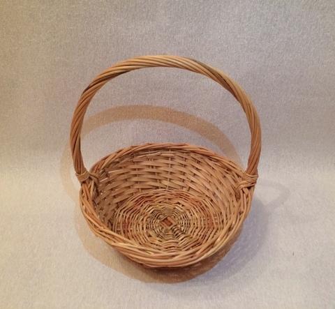 Корзина плетеная (ива), D26x10xH30 см, цвет: натуральный