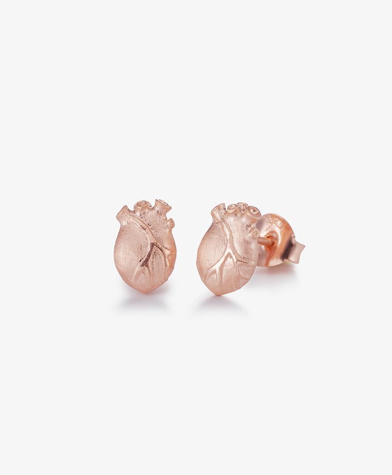 Серьги Anatomic Heart Medium Rose Gold