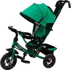 Детский трёхколёсный велосипед с ручкой ( зеленый ) Sweet baby - колёса надувные