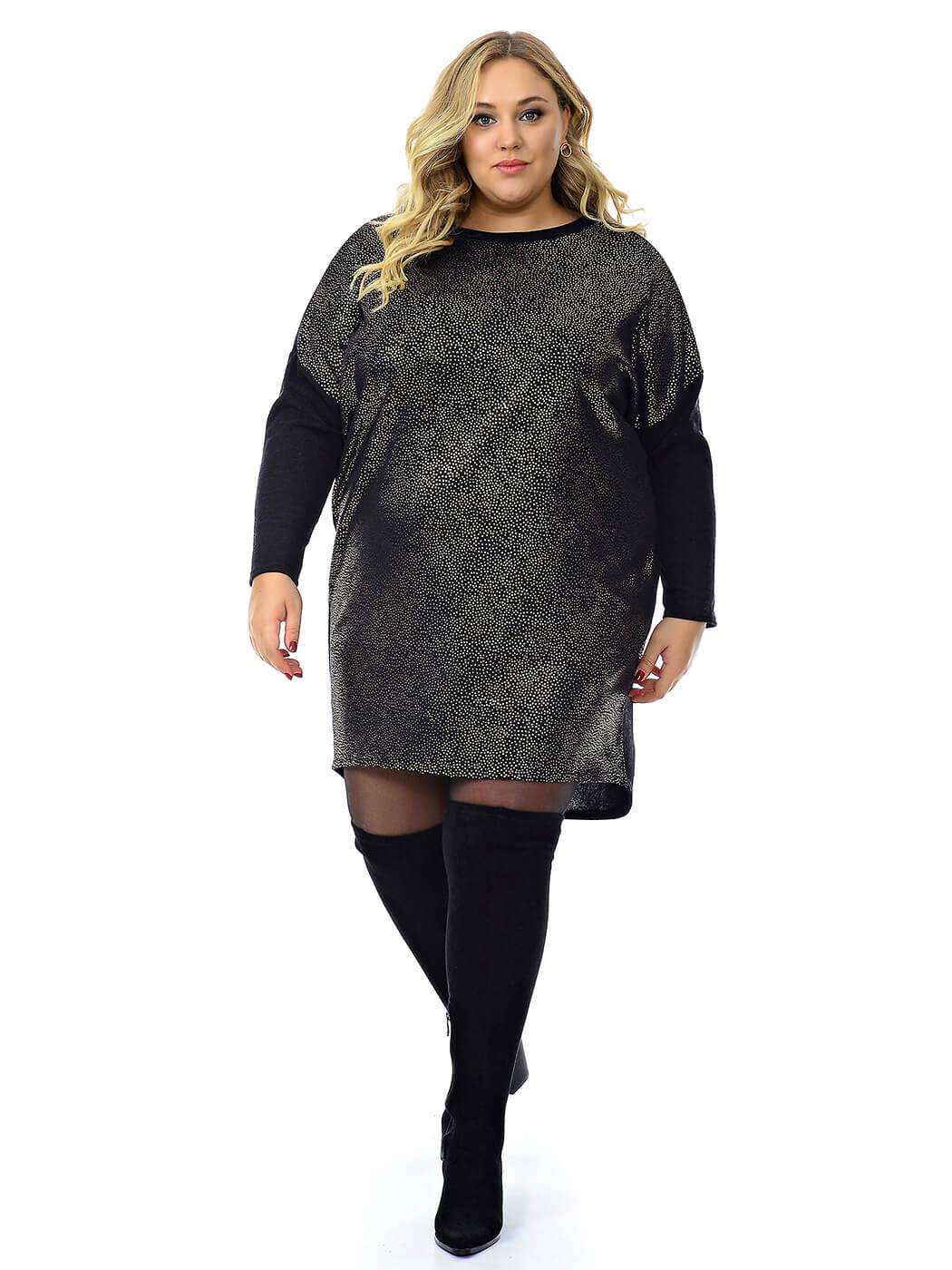 Чёрное платье-туника Ангора