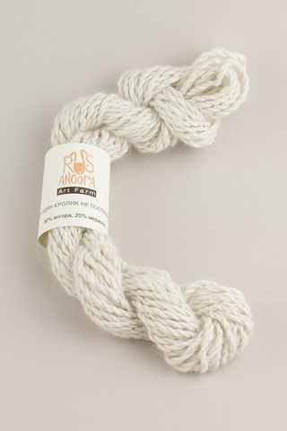 Пряжа ручной работы из 100 % ангоры, цвет белый шелк