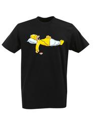 Футболка с принтом мультфильма Симпсоны (The Simpsons) черная 015