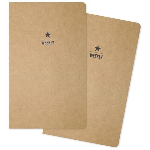 Комплект внутренних блоков  (13х21 см ) для блокнотов -2 шт- Carpe Diem Traveler's Notebook Inserts- 26 Weeks Each