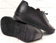 Смарт кэжуал черные женские мокасины кроссовки с черной подошвой EVA collection 151 Black.