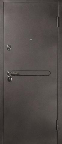 Дверь входная L-3-1 эконом стальная, лён светлый, 2 замка, фабрика Арсенал