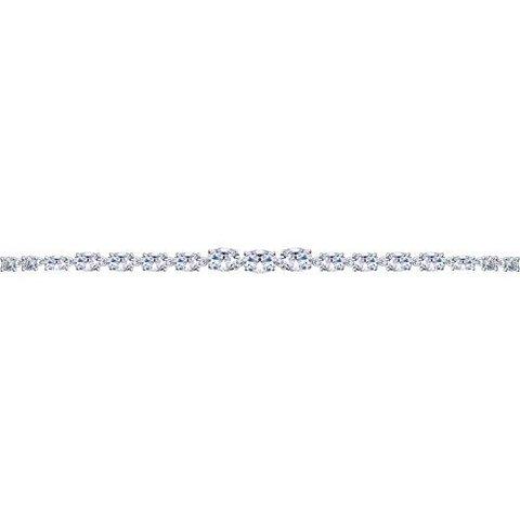 94050357 - Браслет из серебра с дорожкой из фианитов