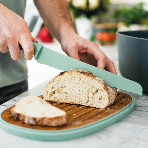 Нож для хлеба 23см Leo (мятного цвета)