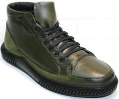 Кожаные ботинки мужские демисезонные Luciano Bellini BC2803 TL Khaki.