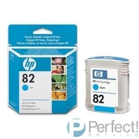 HP C4911A Картридж №82, Cyan {DesignJet 500/800, Cyan (69 ml)}