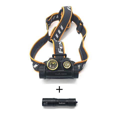 Набор: крепление и налобный фонарь Fenix HM65R LED Headlight+E01 V2.0, 1000 лм