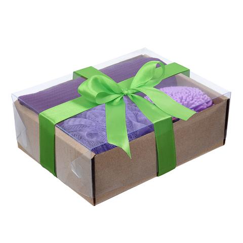 Подарочный Ванный набор «Бархатная кожа» 4 предмета