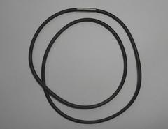 Шнур каучуковый черный 3 мм, 55 см