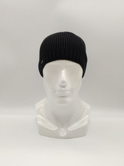 Мужская трикотажная шапка по голове, классика, черная 02