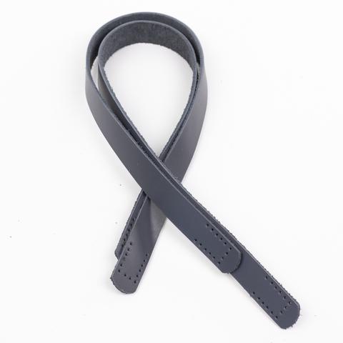 """Ручки кожаные пришивные  """"Серый"""" 2шт. 50см"""