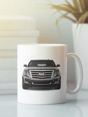 Кружка с рисунком Кадиллак (Cadillac) белая 0010