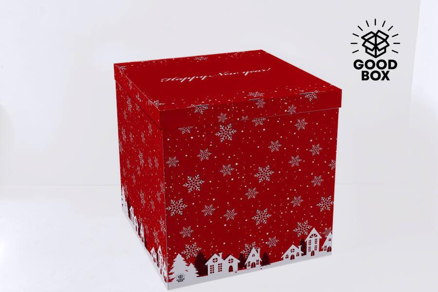 Коробка для шаров на Новый год