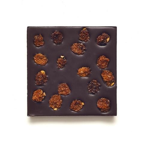 Шоколад горький, 72% какао, на финиковом пекмезе, с физалисом