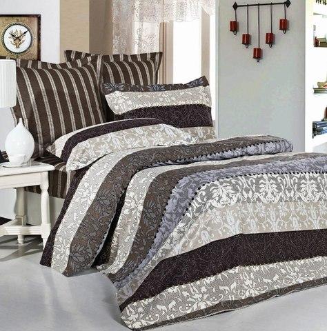 Сатиновое постельное бельё  2 спальное  В-126