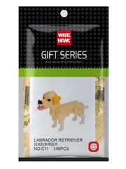 Конструктор Wisehawk & LNO Лабрадор 146 деталей NO. C11 Labrador Retriever Gift Series