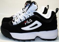 Женские кроссовки Fila Disruptor 2 черные  black/white black