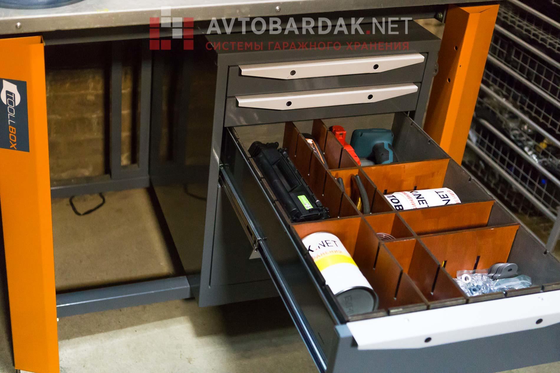 Ложемент в инструментальную тумбу ТВК (h 120 мм)