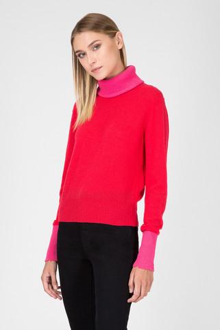 Женский малиновый шерстяной свитер Diesel