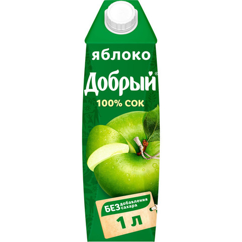 Сок Добрый яблочный 1 л