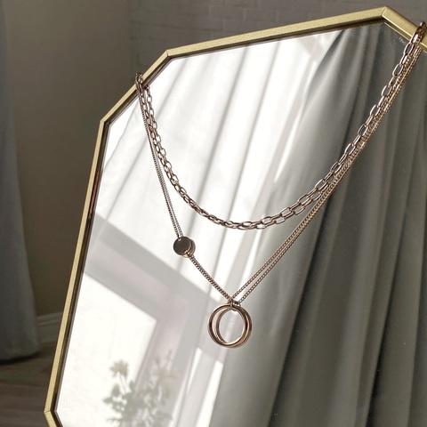 Цепь двурядная с цепью и динамическим кольцом (брасс)