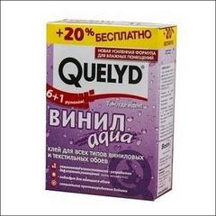Клей спец-флизелиновый для обоев QUELYD Аква (прозрачный)