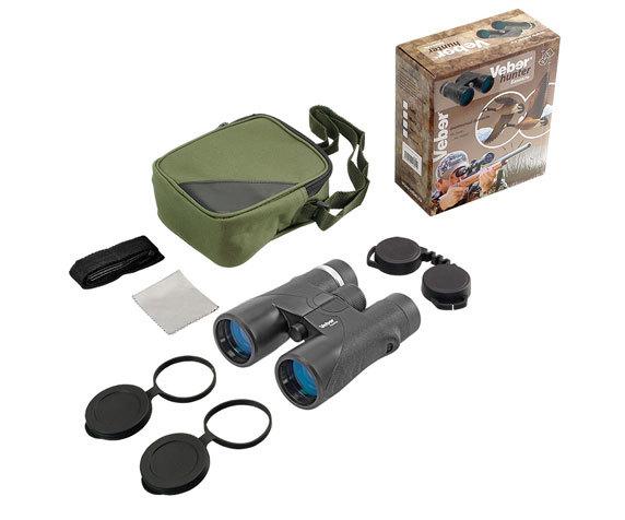 Бинокль Hunter 10 42, защитные крышки, сумка, ремень