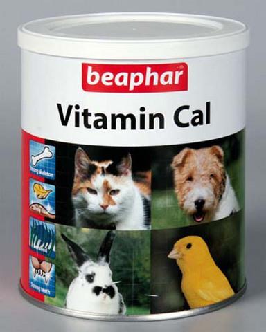 12410 Беафар Vitamin Cal Витаминная смесь для укрепления иммунитета д/собак и кошек 250 гр*6