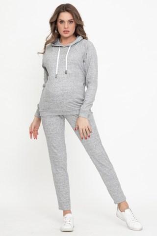 Спортивный костюм для беременных и кормящих 12224 серый