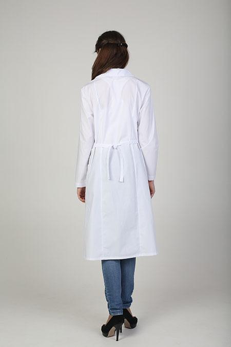 Выкройка медицинского халата с рельефами вид сзади