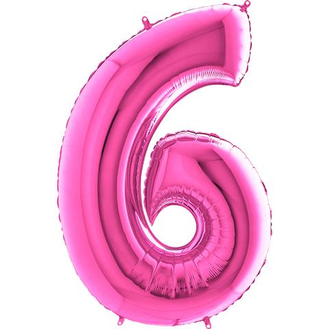 Цифра 6 (Розовая)