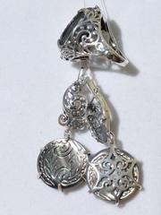 Айседора (кольцо + серьги из серебра)