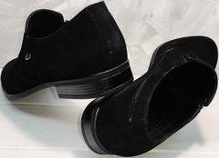 Классическая мужская обувь на выпускной Ikoc 3410-7 Black Suede.