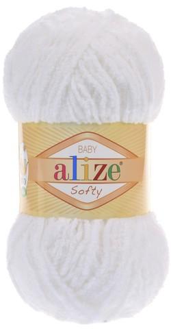 Пряжа Alize SOFTY 55 белый