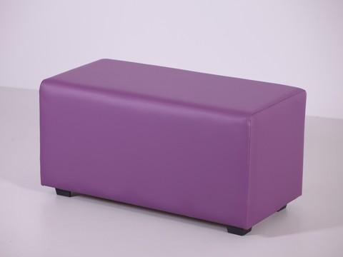 Пф-02 Пуфик прямоугольный (фиолетовый) для дома и магазина