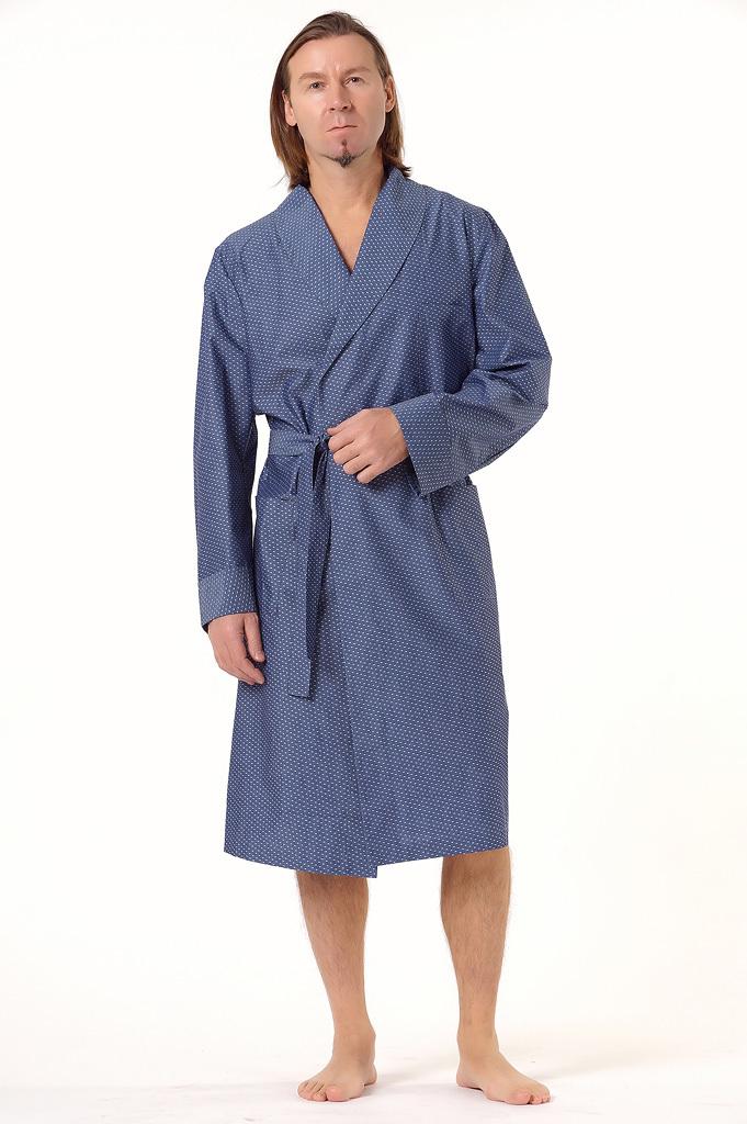 Мужской халат в горошек B&B
