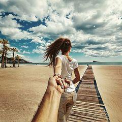 Картина раскраска по номерам 40x50 Следуй за мной на пляж